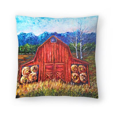 Olena Art Barn Tiff Throw Pillow Size: 20 x 20