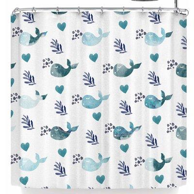 Li Zamperini Whale Shower Curtain