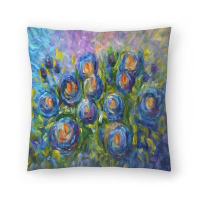 Olena Art Roses Throw Pillow Size: 18 x 18