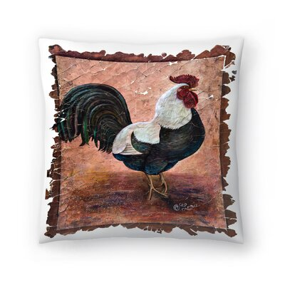 Olena Art Rooster Throw Pillow Size: 20 x 20