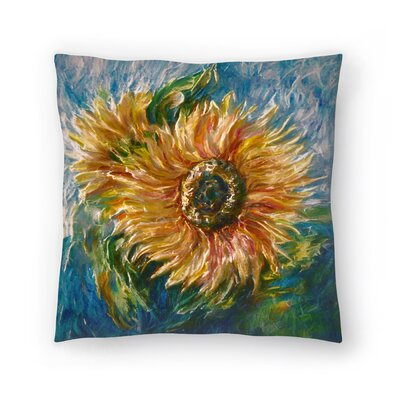 Olena Art Sunflower Throw Pillow Size: 20 x 20