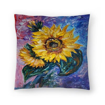 Olena Art That Sunflower from the Sunflower State Throw Pillow Size: 16 x 16