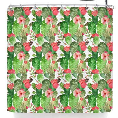 Li Zamperini Cactus Dance Shower Curtain