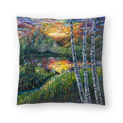 Olena Art Sleeping Meadow Throw Pillow Size: 16 x 16