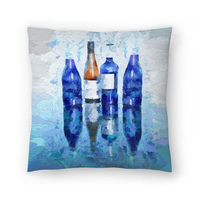 Olena Art Wine Reflection Throw Pillow Size: 20 x 20