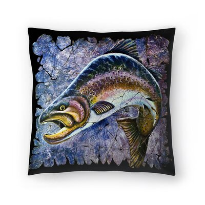 Olena Art Trout Fresco Throw Pillow Size: 18 x 18