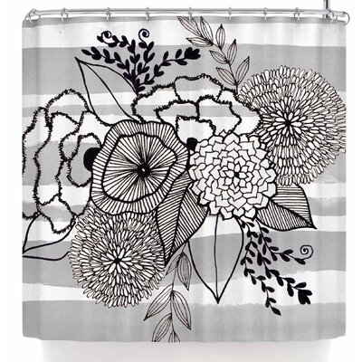 Li Zamperini Doodle Bw Shower Curtain