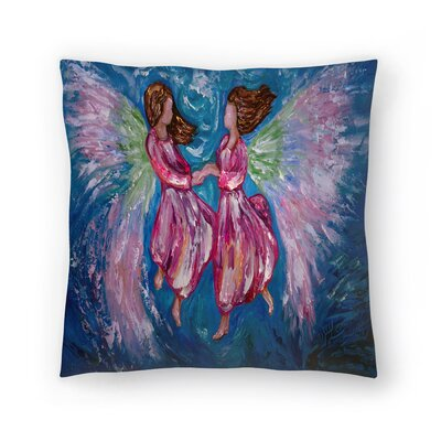 Olena Art Angelic Dance Throw Pillow Size: 20 x 20