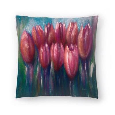 Olena Art Tulips Throw Pillow Size: 20 x 20