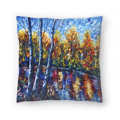 Olena Art Dreaming Forest Throw Pillow Size: 16 x 16