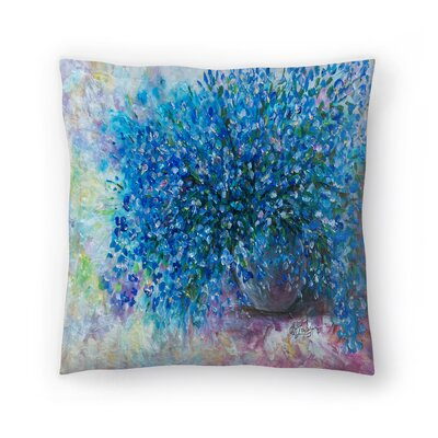 Olena Art Forget Me Nots Throw Pillow Size: 18 x 18