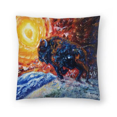 Olena Art Wild the Storm Throw Pillow Size: 16 x 16
