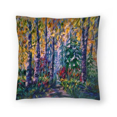 Olena Art Deep in the Woods Throw Pillow Size: 16 x 16