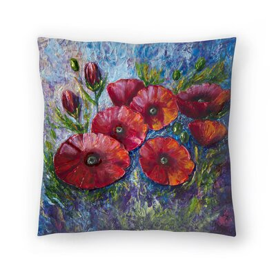 Olena Art Bella Fresca Poppies 2 Throw Pillow Size: 16 x 16