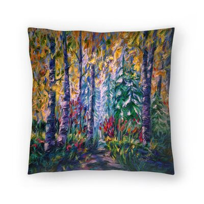 Olena Art Deep In The Woods 2 Throw Pillow Size: 16 x 16