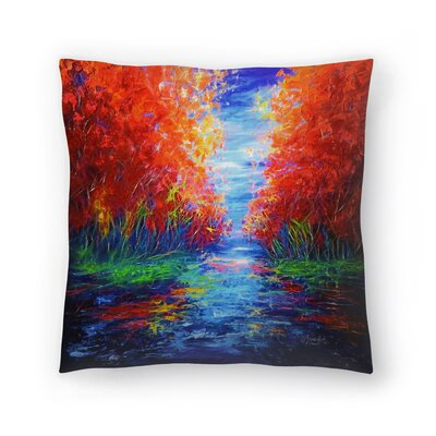 Olena Art Lake View Throw Pillow Size: 18