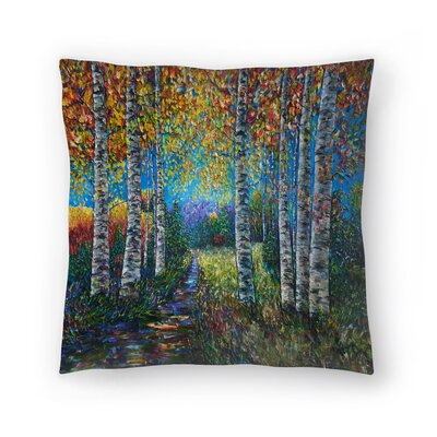 Olena Art Palette Knife Lena Throw Pillow Size: 20 x 20
