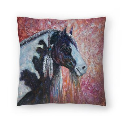 Olena Art Prairie Spirit Throw Pillow Size: 14 x 14