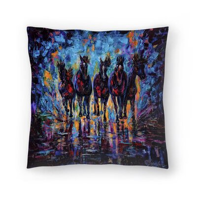 Olena Art Roaming Free Throw Pillow Size: 16 x 16