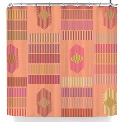 No Shades of Coral Shower Curtain
