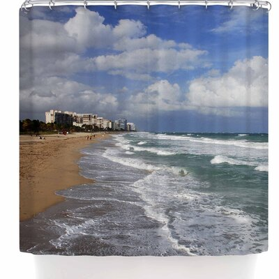 Nickn Florida Coast Beach Shower Curtain
