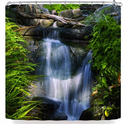 Nickn Flowing Waterfall Shower Curtain