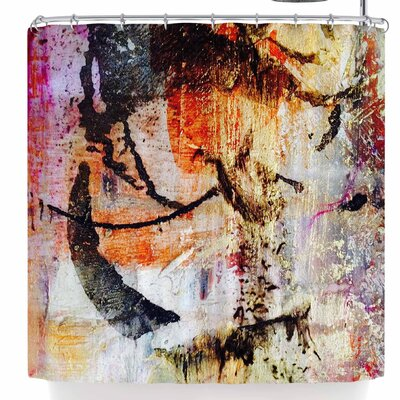 Malia Shields Abstracted Circles Shower Curtain