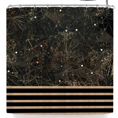 Marianna Tankelevich Golden Space Geometry Shower Curtain