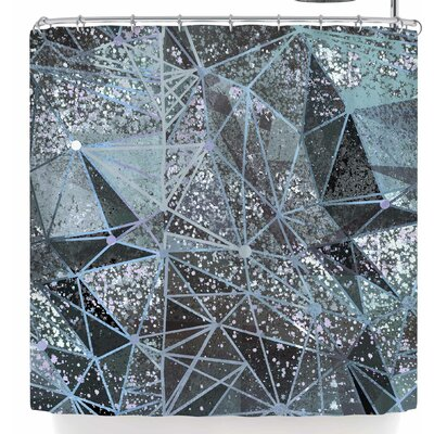 Marianna Tankelevich Ice Space Geometry Shower Curtain