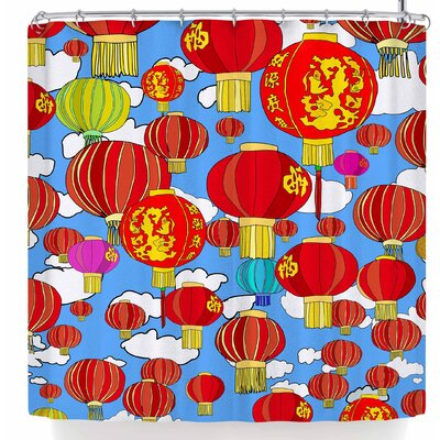 Notsniw Lanterns Shower Curtain