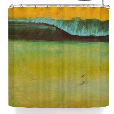 Nathan Gibbs Lemon Sands Shower Curtain