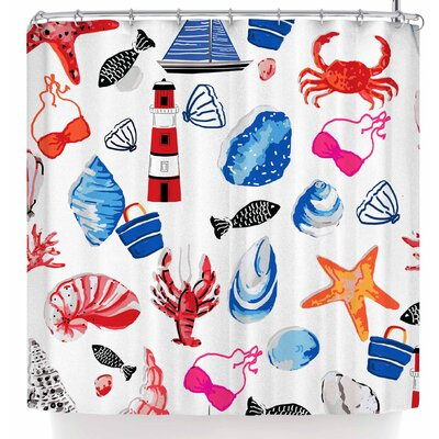Mukta Lata Barua Beach Comber Shower Curtain