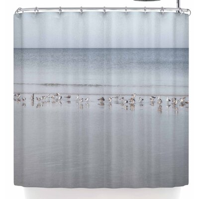 Mary Carol Fitzgerald Shoreline Seagulls Shower Curtain