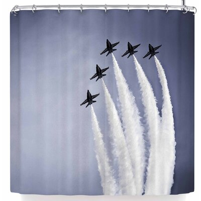 Mary Carol Fitzgerald In Flight Jets Shower Curtain