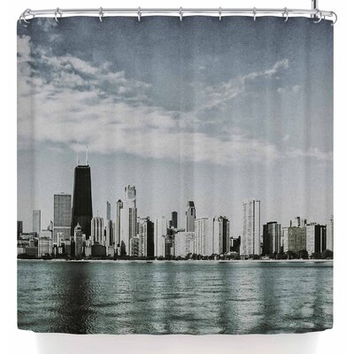 Mary Carol Fitzgerald Chicago Morning Skyline Shower Curtain