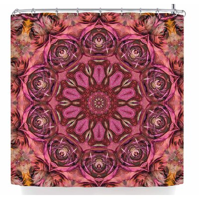 Justyna Jaszke Mandala Space Shower Curtain