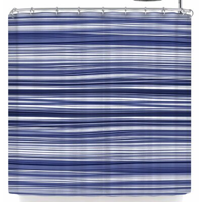 Monica Martinez Nautical Stripes Shower Curtain