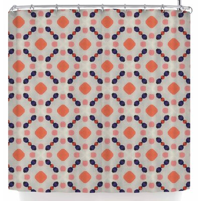 Monica Martinez Vintage Dots Shower Curtain