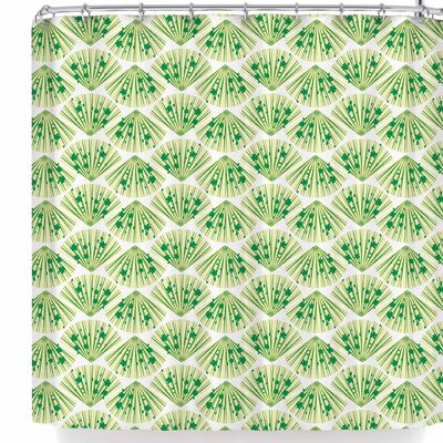 Neelam Kaur Floral Fans Shower Curtain