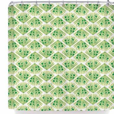 Neelam Kaur Floral Fans Shower Curtain