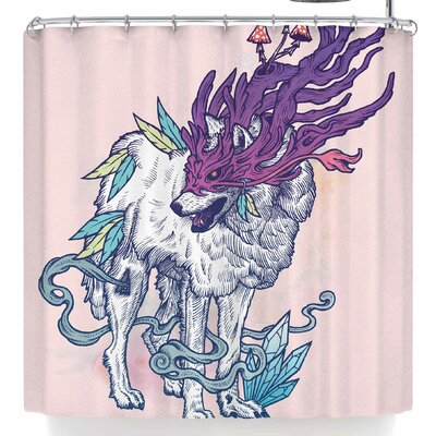 Mat Miller Spirit Wolf Shower Curtain
