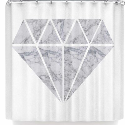 Nl Designs Marble Diamond Shower Curtain