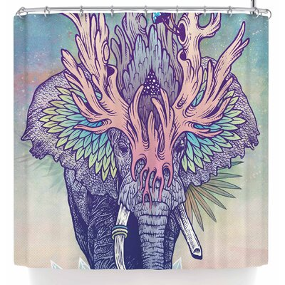 Mat Miller Spirit Elephant Shower Curtain
