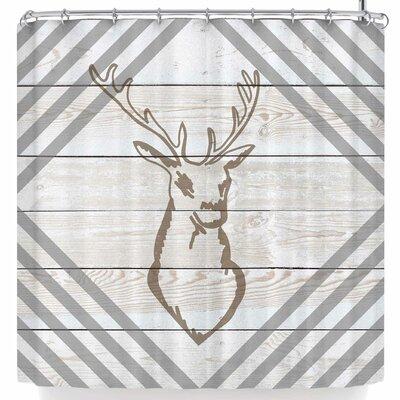 Nl Designs Wood Palette Deer Shower Curtain
