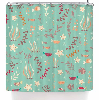 Bluelela Underwater Shower Curtain