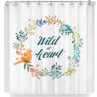 Nl Designs Wild At Heart Shower Curtain