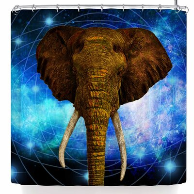Nl Designs Space Elephant Shower Curtain