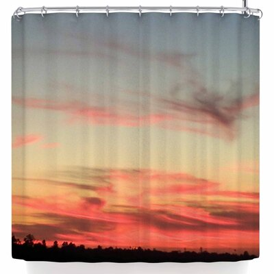 Nl Designs Sunset Swirls Shower Curtain