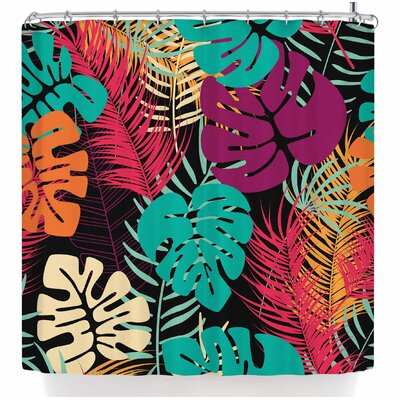 Bluelela Tropical Night Shower Curtain