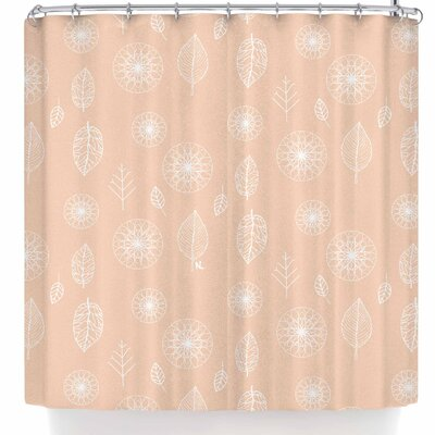 Nl Designs Folk Leaves Shower Curtain